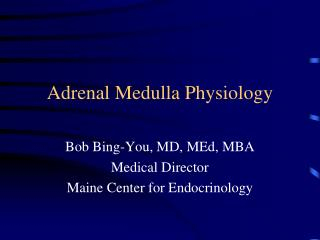 Adrenal Medulla Physiology