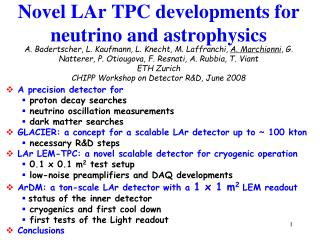 Novel LAr TPC developments for neutrino and astrophysics