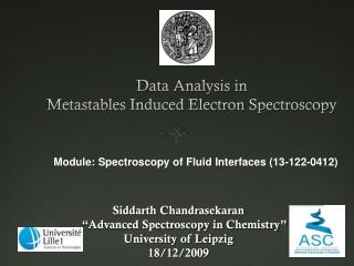 Data Analysis in  Metastables Induced Electron Spectroscopy