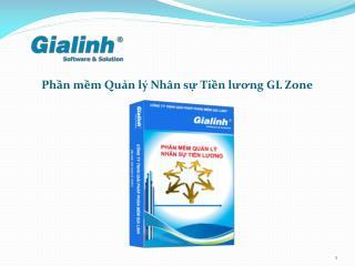Phần mềm Quản lý Nhân sự Tiền lương GL Zone