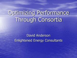Optimizing Performance Through Consortia