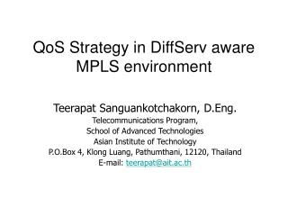 QoS Strategy in DiffServ aware MPLS environment