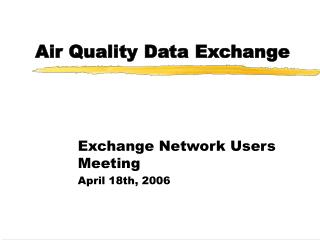 Air Quality Data Exchange