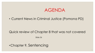 Presentation to  the South Carolina  Sentencing Reform Commission