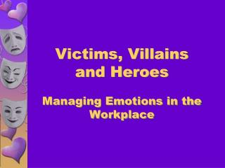 Victims, Villains and Heroes Managing Emotions in the Workplace