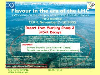 Report from Working Group 2 B/D/K Decays
