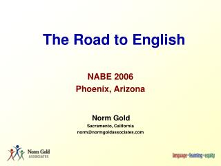 The Road to English
