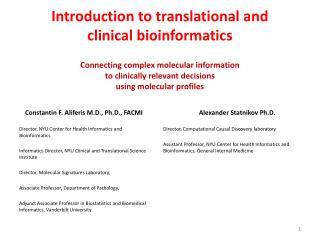 Constantin F. Aliferis M.D., Ph.D., FACMI