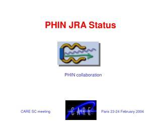 PHIN JRA Status