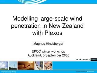 Modelling large-scale wind penetration in New Zealand with Plexos