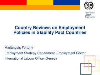 Country Reviews on Employment Policies in Stability Pact Countries