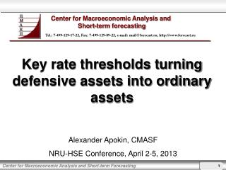 Key rate thresholds turning defensive assets into ordinary assets