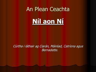 An Plean Ceachta