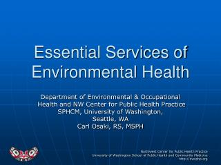 Essential Services of Environmental Health