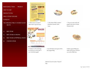 KBHOLDING/ TEEKS          PRESENT CHEF TO CHEF  PRODUCTS FOR-   PHILLY STEAK FOR SUBS Or PIZZA'S