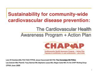 Sustainability for community-wide cardiovascular disease prevention: