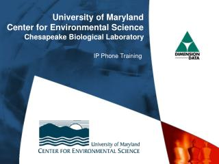 University of Maryland Center for Environmental Science Chesapeake Biological Laboratory