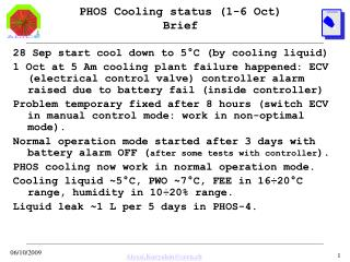 PHOS Cooling status (1-6 Oct) Brief