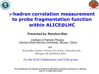 -hadron correlation measurement to probe  fragmentation  function  with in  ALICE @ LHC
