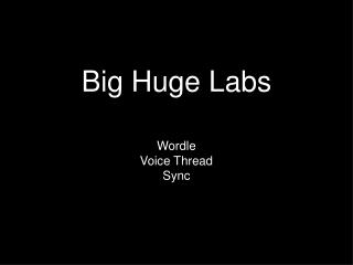 Big Huge Labs