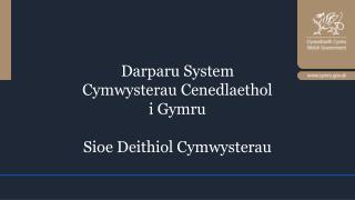 Darparu  System Cymwysterau Cenedlaethol i Gymru Sioe Deithiol Cymwysterau