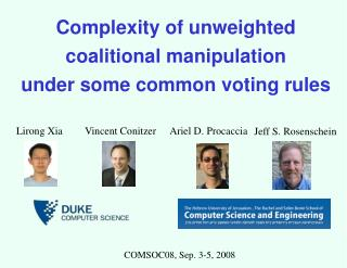 Complexity of unweighted coalitional manipulation under some common voting rules