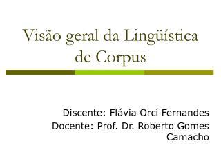 Visão geral da Lingüística de Corpus
