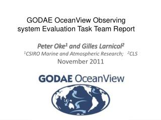 GODAE OceanView Observing system Evaluation Task Team Report
