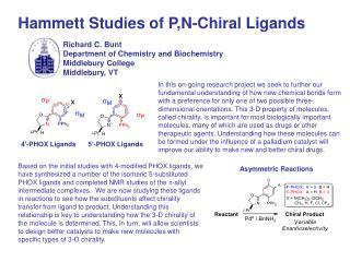 Hammett Studies of P,N-Chiral Ligands