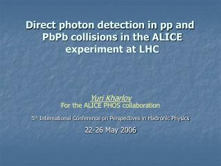 Direct photon detection in pp and PbPb collisions in the ALICE experiment at LHC