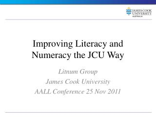 Improving Literacy and Numeracy the JCU Way