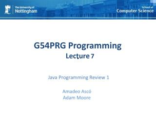 Java Programming Review 1