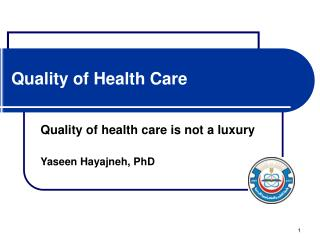 Quality of Health Care