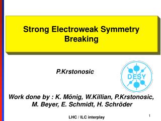 Strong Electroweak Symmetry Breaking