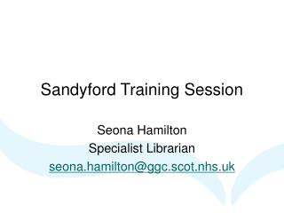 Sandyford Training Session