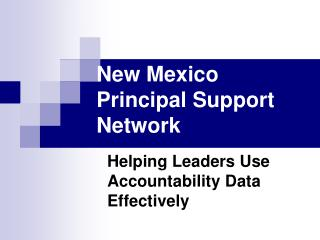 New Mexico Principal Support Network