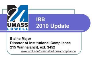 IRB 2010 Update