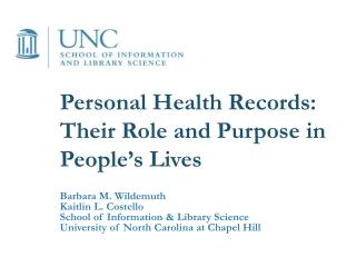 Personal Health Records: Their Role and Purpose in People's Lives