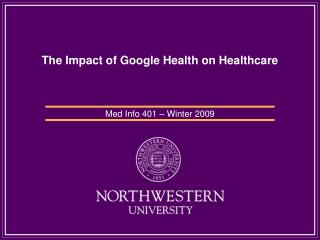 The Impact of Google Health on Healthcare