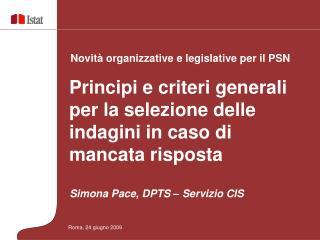 Simona Pace, DPTS – Servizio CIS