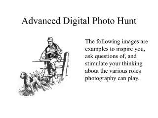 Advanced Digital Photo Hunt