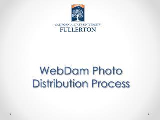 WebDam Photo Distribution Process