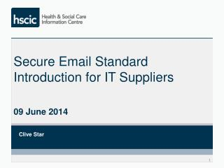 Secure Email Standard Introduction for IT Suppliers