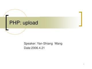 PHP: upload