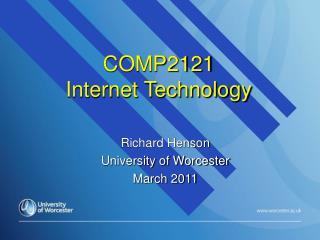 COMP2121  Internet Technology