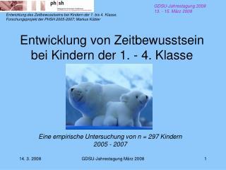Entwicklung von Zeitbewusstsein bei Kindern der 1. - 4. Klasse