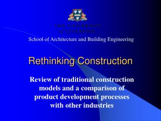 Rethinking Construction