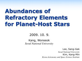 Abundances of Refractory Elements  for Planet-Host Stars