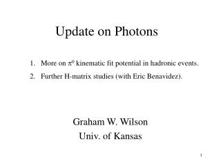 Update on Photons