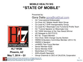 "MOBILE HEALTH WG  ""STATE OF MOBILE"""
